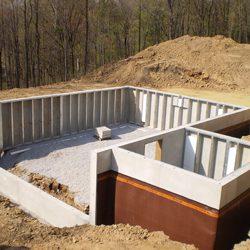 foundations brick wall